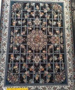 فرش ابیانه زیبا سرمه ای