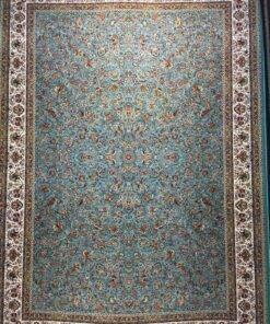 فرش ابیانه گل مرغ آبی