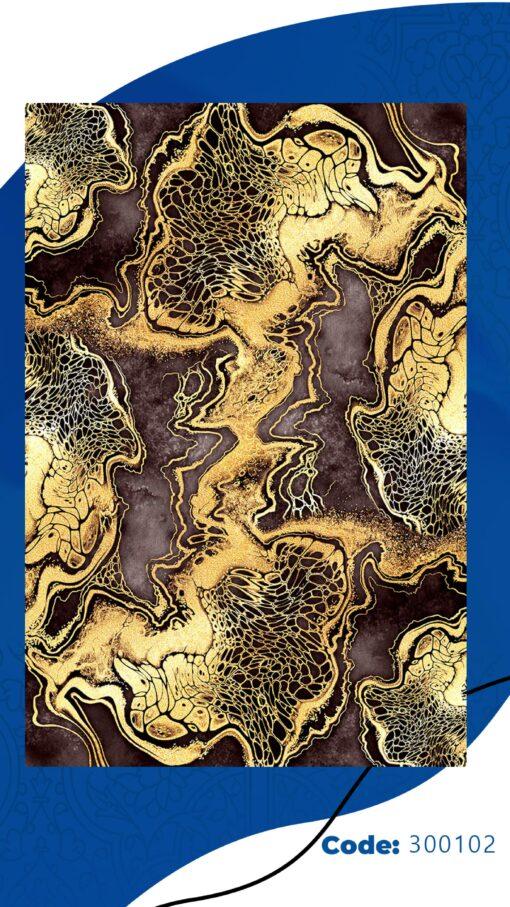 فرش ابیانه طرح سنگ انتیک300102
