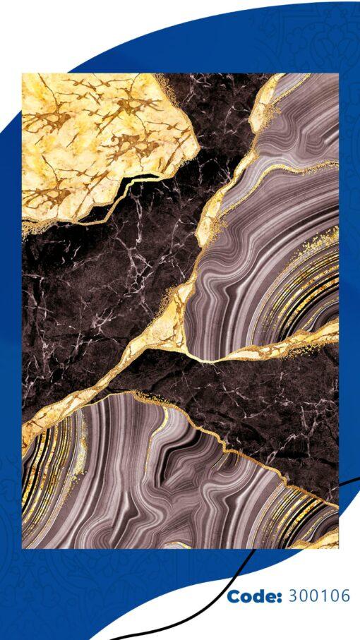فرش ابیانه طرح سنگ انتیک300106