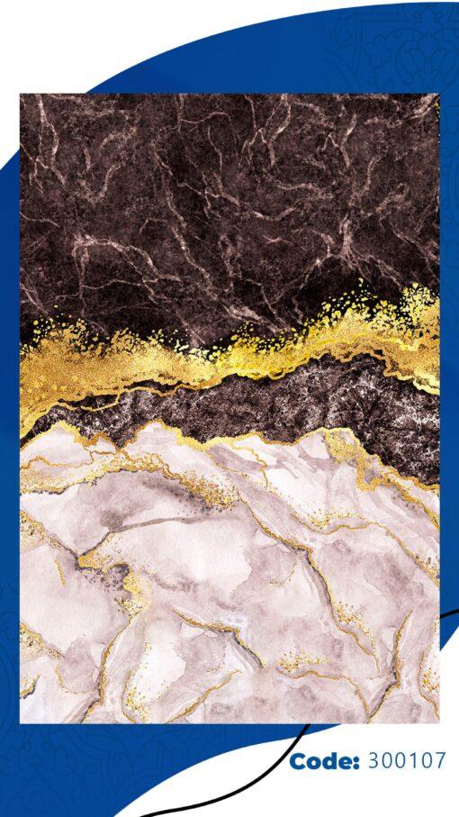 فرش ابیانه طرح سنگ انتیک300107