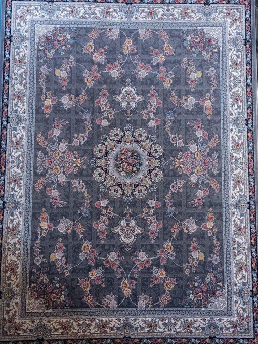 فرش ابیانه زیبا دودی